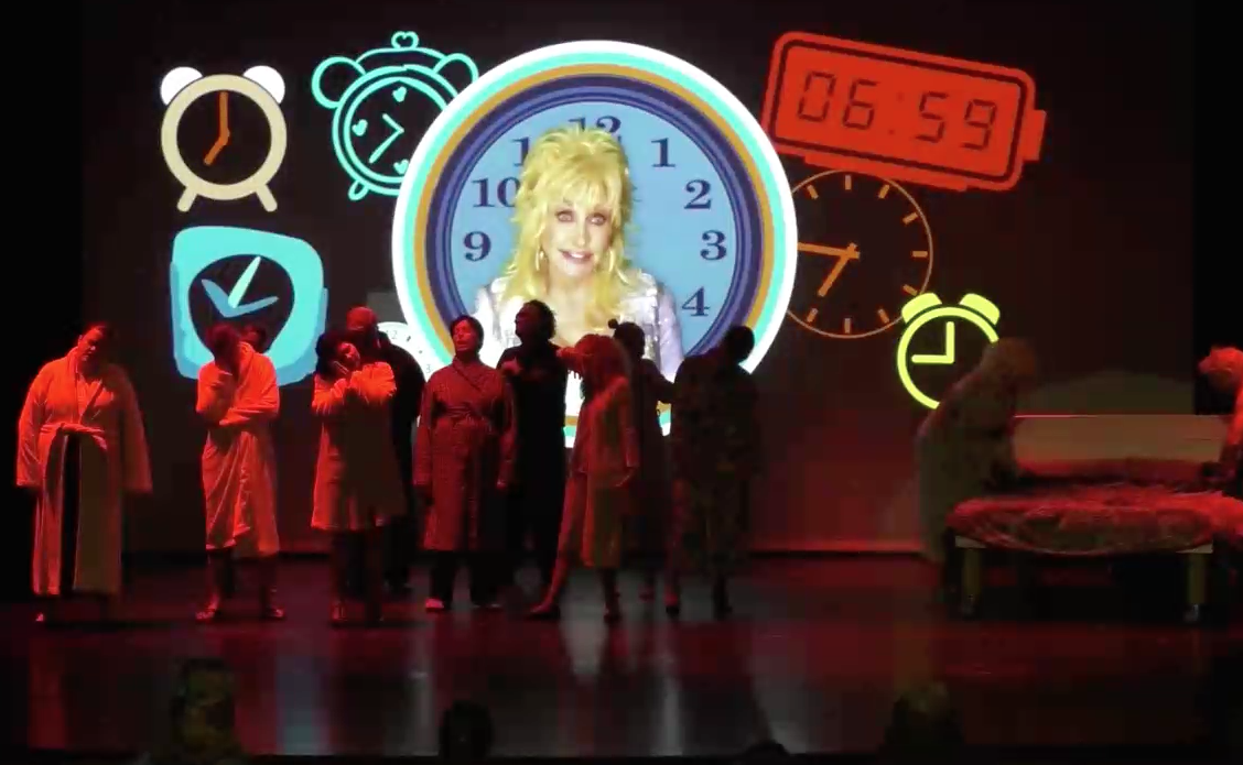 The ensemble of 9 to 5 The Musical + special appearance by Dolly Parton